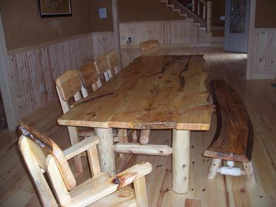 White Pine with log legs